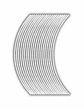 6mm wheel rim tape striping stripes stickers White..(38 pieces/9 per wheel)