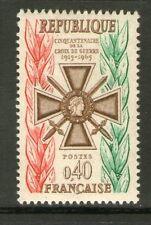 TIMBRE 1452 NEUF XX - 50 ANS DE LA CROIX DE GUERRE