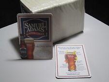 100 Samuel Adams Boston Lager Bar Coasters Pub Bottle Sleeve label Beer info ale