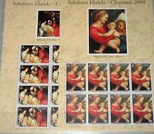 SOLOMON SALOMON ISL. 2004 Klb 1176-81 Christmas Raphael Tizian Dürer Rubens MNH