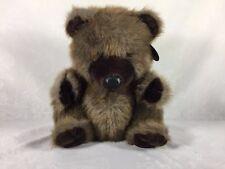 "24K Polar Puff Special Effects Plush Bear #4889 ""Corkie"" Dark Brown 1985 Vintage"