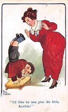 OLD COMIC POSTCARD PHIL MARTIN/CHILDREN NO H107 USED FAIR+/GOOD+ HD83
