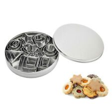 24X Baking Cake Biscuit Fondant Cookie Cutter Pastry Mold Round Stainless Steel