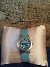Roxy Women's Analog Wrist Watch Light Blue Rubber Strap Water Resistant S/S Case