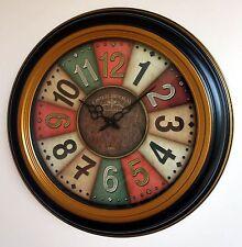 Wanduhr wall clock часы Metall Glas 54,5cm Vintage L'Hotel du Palais Paris Frank