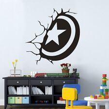 Captain Shield Kinderzimmer Wandtattoo Wallpaper Wand Schmuck 57 x 59 cm