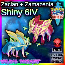 ✨ Shiny Zacian + Zamazenta ✨ Pokemon Sword and Shield 6IV Events 🚀FAST TRADE🚀
