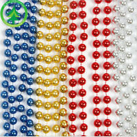 Hanging Bead Garland Christmas Tree Xmas Party Tinsel String Chain 3 Colors