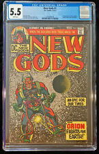 1971 DC New Gods #1 CGC 5.5 White Pages.