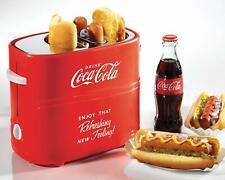 Nostalgia Coca-Cola Pop-Up 2 Hot Dog and Bun Toaster, With Mini Tongs Drip Tray