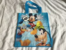 Disney's Mickey Mouse, Donald Duck, Goofy Blue Reuseable Tote Bag