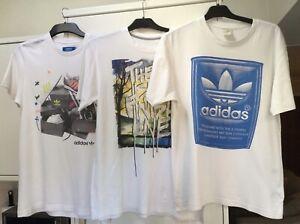 Mens T-Shirts Bundle Of 3 = 2 Adidas T-Shirts & 1 Nike T-Shirt
