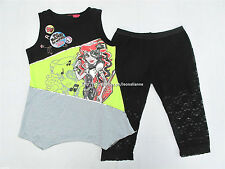 50% OFF! MONSTER HIGH GIRLS 2PC LONG TOP & LEGGINGS SET MEDIUM/LARGE BNWT $16.99