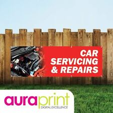 Car Servicing & Repairs Vinyl Sign For Garages With Eyelets-027