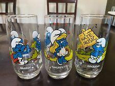Smurf glasses 1982 - Set Of 3