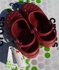 CROCS MARY JANE ALICE  FLAT SLIP ON SANDAL SHOE~Ruby Red~Junior 2 Women 4~NWT