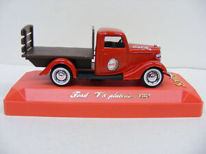 Solido 1/43 Ford V8 Plateau Flat Tray Coca Cola Red