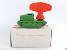 Rare Vintage Russian USSR Red Army Military Vehicles WW2 Tractor Locator Tin Toy