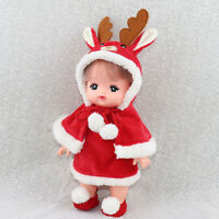 Doll Christmas Suit for Mellchan Baby Doll 9-11inch Reborn Girl Doll Clothes