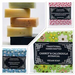 Luxury Vegan Soap Traditional Handmade Cold Process Plastic Free Eco Friendly