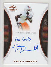 "PHILLIP DORSETT 2015 Leaf Trinity Inscription Rookie Auto ""Go Colts"" Miami RC"