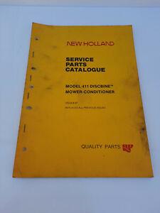Vintage New Holland 411 Discbine Mower Conditioner Service Parts Catalogue