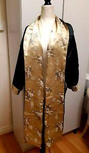 Black Embroidered Silk Dragon Embroidered  Kimono Japanese Original Robe AS NEW