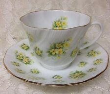 Queen's Bone China Cup & Saucer Countryside Series Primrose / Yellow Flowers