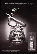 "1975 Old Bushmills Irish Whiskey Skier Style Glass photo ""Tells a Lot"" print ad"