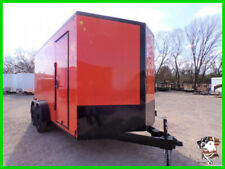 7 X 14 14'  Enclosed ATV Bike Cargo Landscape Zero Turn Construction Trailers OK