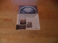 SMITHS  TUNING FORK  CLOCKS    VINTAGE MAGAZINE AD      7   2    D     E