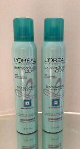 NEW Loreal Paris Extraordinary Clay Dry Shampoo, 4 oz (115 g) - Lot of 2!
