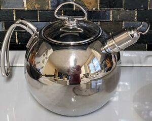 Chantal SL37-15 Stainless Steel Hot Water Tea Kettle 1.3 qt Harmonica Whistle
