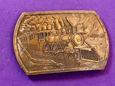 Commemorative Mint Train Belt Buckle - Steam locomotive Mountain Transport