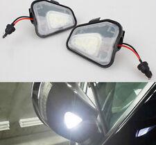 Pair NO Error LED Side Mirror Puddle Lights For Vw Volkswagen EOS Passat B7 CC A