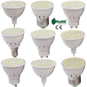 GU10 MR16 E26 E27 LED Spotlight Bulb 2835 SMD 4W 5W 6W Lamp Bright 110V 220V 12V