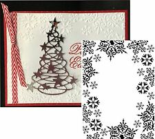 DARICE Embossing Folder SNOWFLAKE TRIM Snow Winter Holiday Christmas Frost Frame