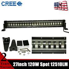 "CREE 27""inch 120W Flashing LED Light Bar Strobe Driving Fog Lamp ATV SUV RZR /28"