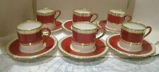 Wedgwood Ruby Ulander 6 X Coffee Cans & Saucers