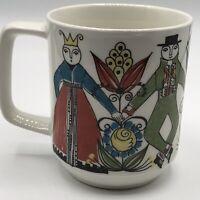 Vintage Figgio Flint Saga Norsk Design Coffee Tea Cup Mug Folk Art Norway King