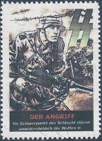 Artist Stamp Replica Label Germany 153 WWII Reich War Special Army MNH
