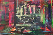"ORIGINALE Kaliya kalacheva ""GATES di rabbia 2015 PITTURA ASTRATTA paesaggio urbano"