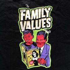 Vintage FAMILY VALUES 1999 TOUR T-SHIRT KORN PRIMUS METHOD MAN REDMAN wu-tang
