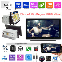"Android 9.1 2Din 9"" HD Bluetooth Stereo Radio Car MP5 Player GPS Sat Nav 2+32G"