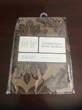 "Renaissance Home Fashion Derby Jacquard Valance Gold 90x17"" Window Top Treatment"