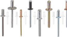 6x26  Blindniete Alu//Stahl Flachkopf POPNIETE KB 17,0-20,0mm Menge nach Wahl