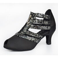 New Adult Women's Satin Snakeskin suede Latin dance shoes ballroom dancing shoes