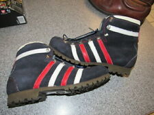 Vintage Dunham Mountaineering hiking brown leather boots Men's 8.5 M Italy Nice!