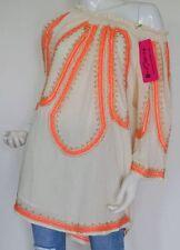 Hippie 3/4 Arm Damenblusen, - tops & -shirts mit Rundhals-Ausschnitt