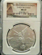 2015 1 oz Mexican Silver Libertad Coin ER MS69 Exclusive Label